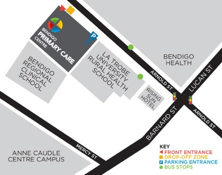 bendigo primary care centre clinic map